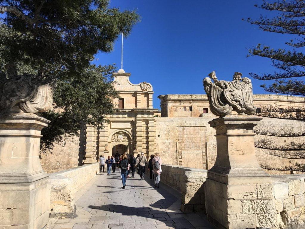 Brama Miejska w mieście Mdina na Malcie